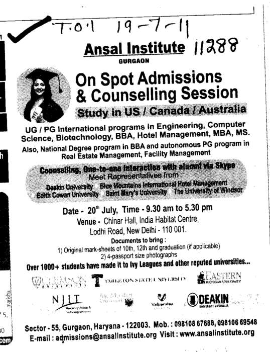 Counselling (Ansal Institute of Technology)
