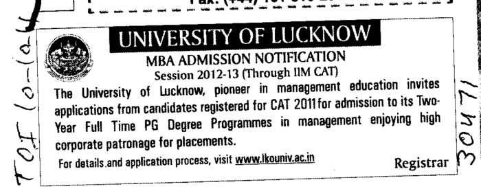 MBA Programme (Lucknow University)