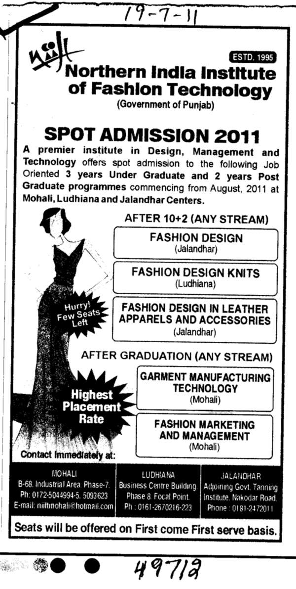 Northern India Institute Of Fashion Technology Mohali Sas Nagar Punjab