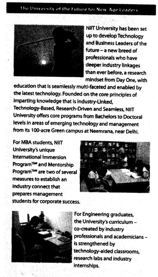 Engineering Graduates (NIIT University)