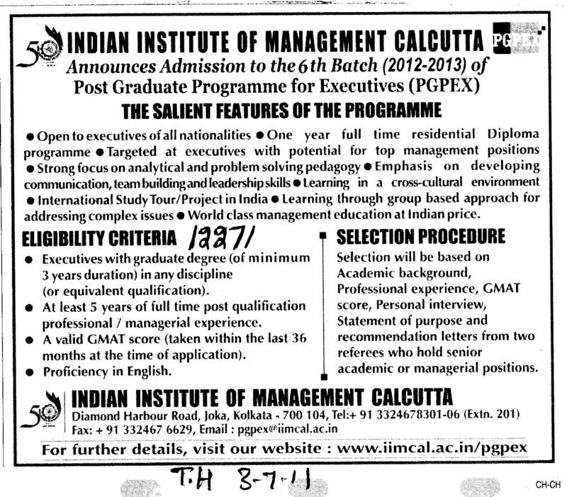 Post Graduate Programme for Executives (Indian Institute of Management (IIM-Calicut))