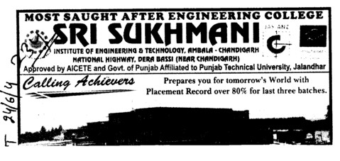 World with Placement Record (Sri Sukhmani Institute of Engineering and Technology)