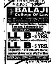 LLB in Three years and Five years (Balajit College of Law)