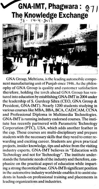 The Knowledge Exchange (GNA Institute of Management and Technology)