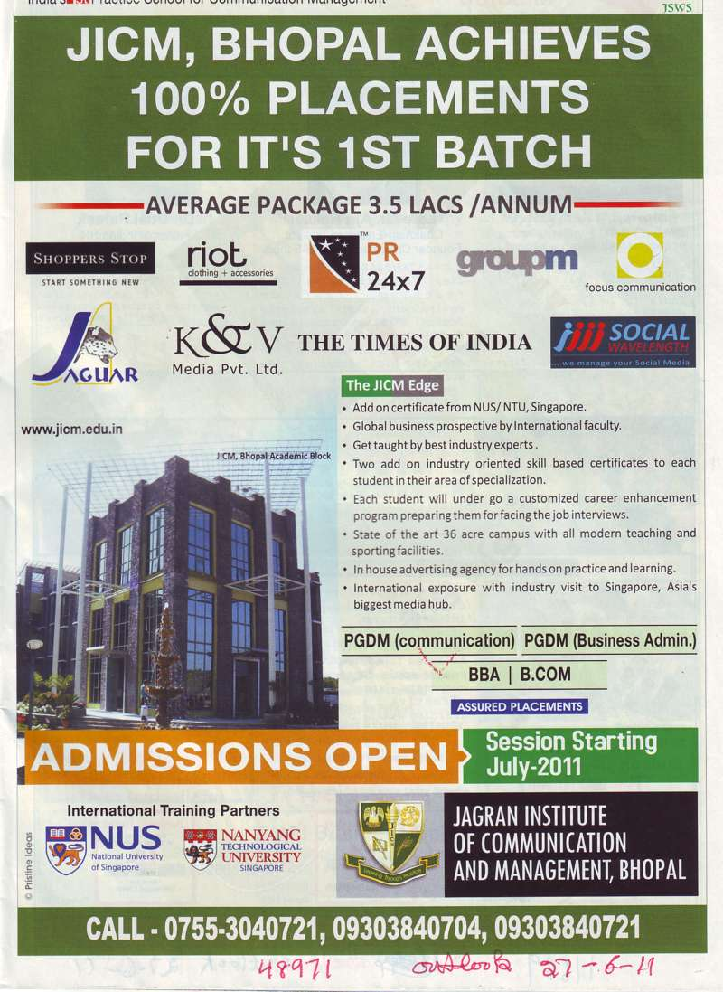 PGDM BBA and BCom etc (School of Planning and Architecture)