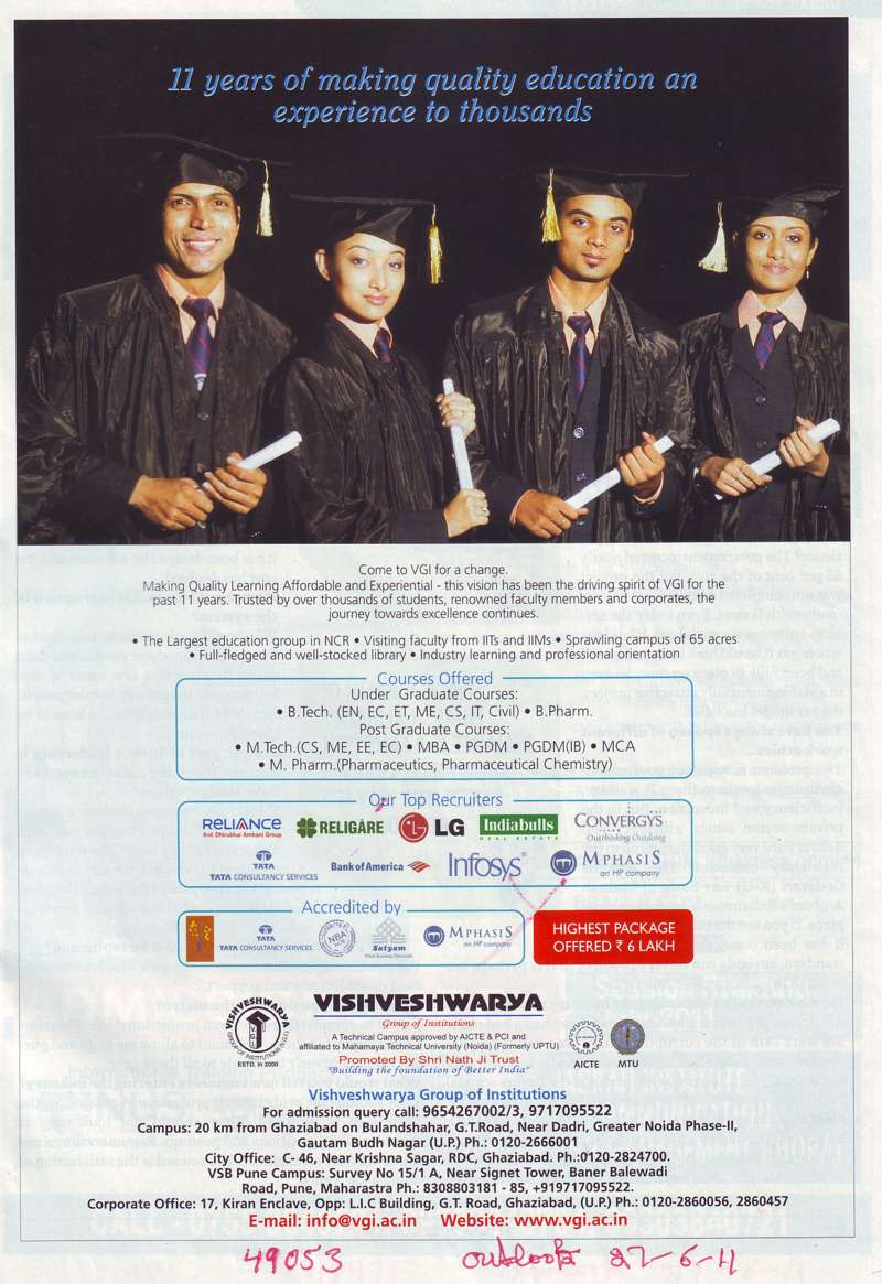 UG and PG Courses (Vishveshwarya Group of Institutions (VGI))