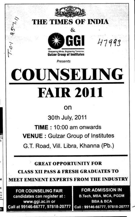 Counselling (Gulzar Group of Instituties Khanna)