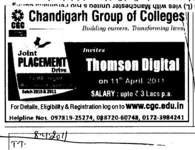 Joint Placement Drive (Chandigarh Group of Colleges)