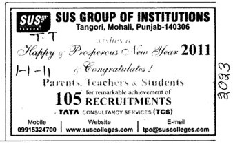 Happy Prosperous New Year (SUS Group of Institutions)