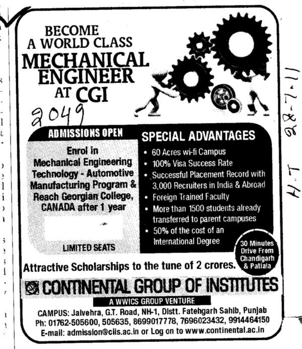 A World Class Mechanical Engineer (Continental Group Institute Jalvehra)
