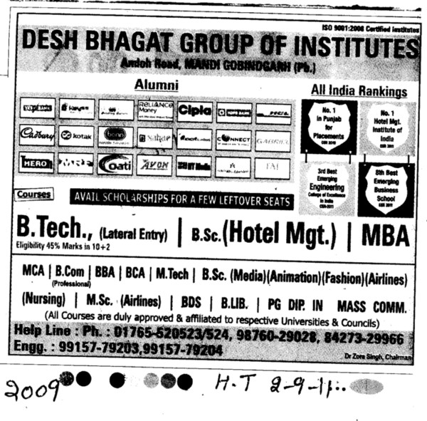 B Tech and MBA (Desh Bhagat Group of Institutes)