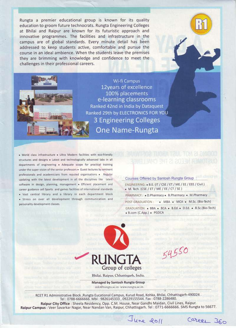 Engineer Diploma and Pharmacy etc (Rungta College of Pharmaceutical Science and Research)