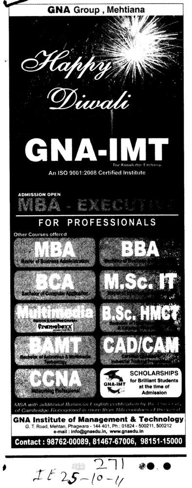 Professionals Courses (GNA Institute of Management and Technology)