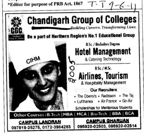 Hotel Management (Chandigarh Group of Colleges)