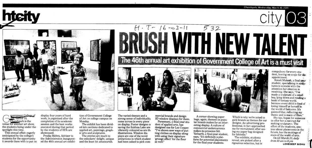 Brush with new talent (Government College of Art)