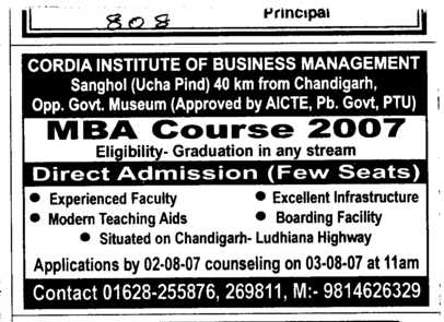 MBA Course (Cordia Institute of Business Management)