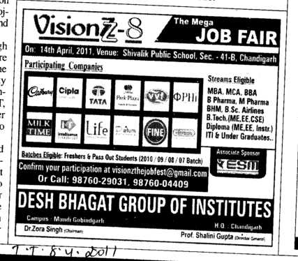 Placement (Desh Bhagat Group of Institutes)