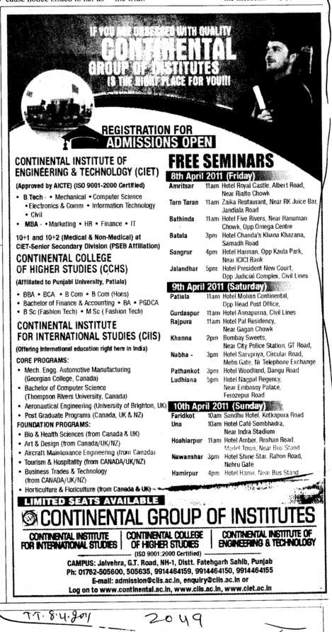 Foundation Programmes (Continental Group Institute Jalvehra)