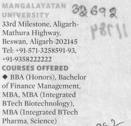 BBA and Bachelor of Finance Management (Mangalayatan University)