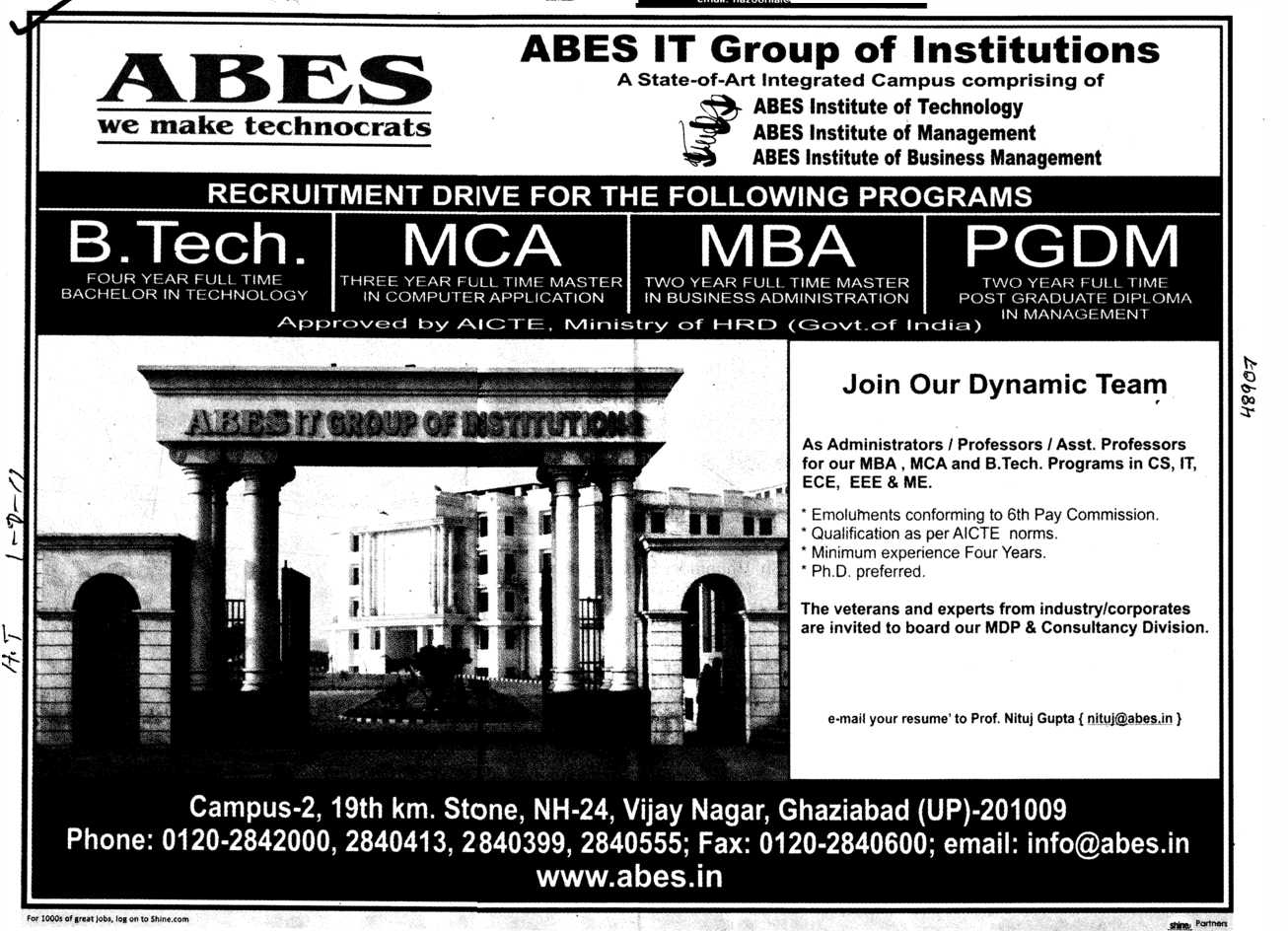 Ghaziabad pin code - Mba Mca And M Tech Etc