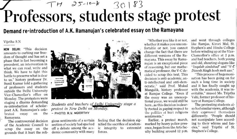 Proffessors Students stage protest (Delhi University)