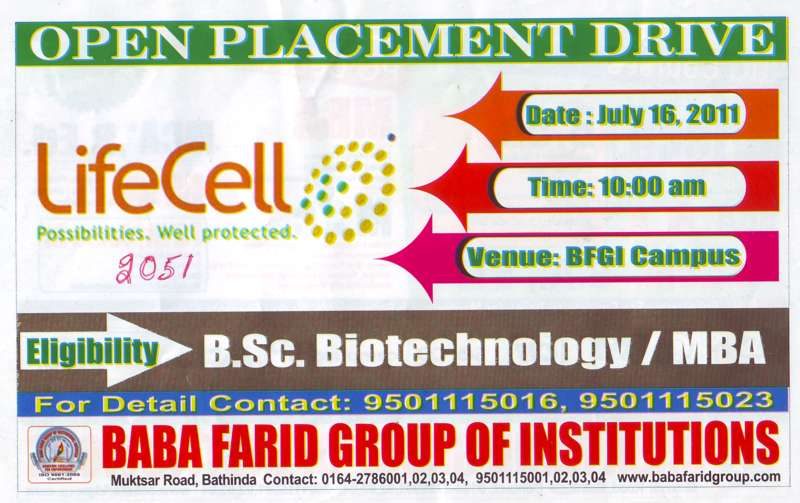 BSc in Biotechnology and MBA (Baba Farid Group of Institutions)