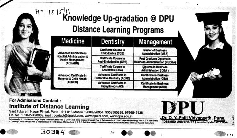 Dentistry and Medicine (Dr DY Patil University)