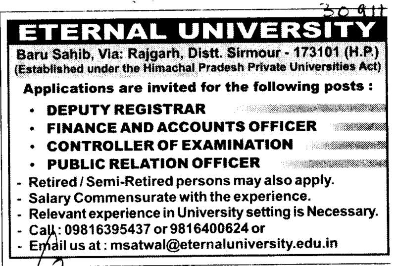 Baru Sahib Eternal University http://www.punjabcolleges.com/30911-indiacolleges-Eternal-University-Baru-Sahib/