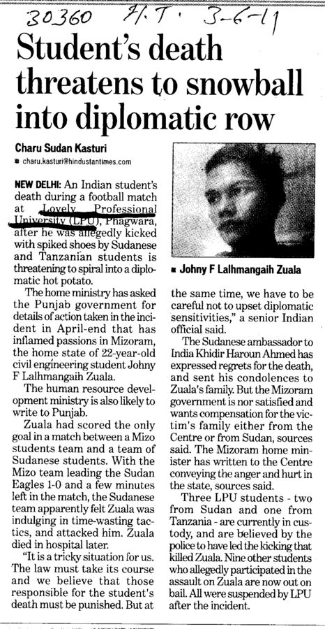 Students death threatens to snowball into diplomatic row (Lovely Professional University LPU)
