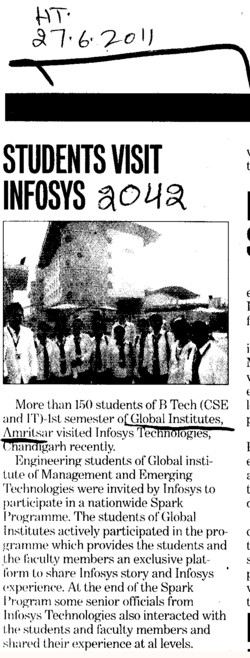 Students Visit Infosys (Global Institutes Group)