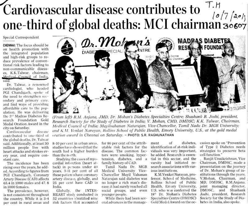 Cardiovascular disease contributes to one third of global deaths (Medical Council of India (MCI))