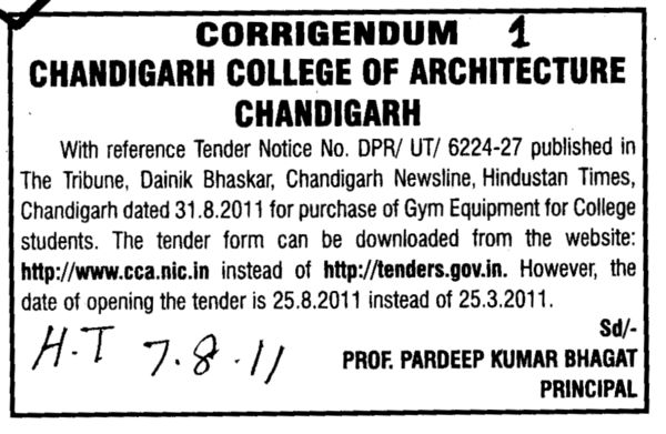 Gym Equipments for College Students (Chandigarh College of Architecture)