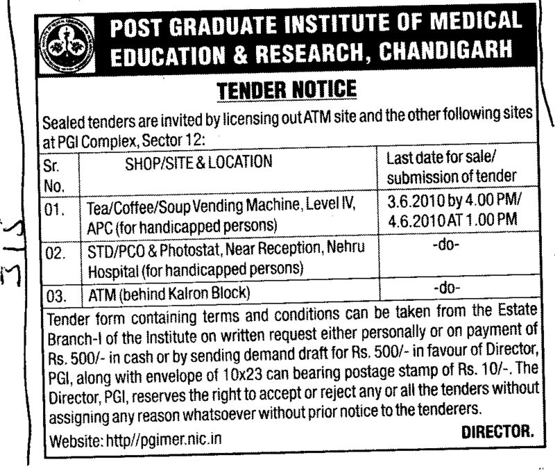 STD PCO Photostat and ATM etc (Post-Graduate Institute of Medical Education and Research (PGIMER))