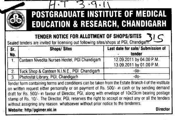 Canteen Nivedita Nurses Hostel and Photostat Library etc (Post-Graduate Institute of Medical Education and Research (PGIMER))