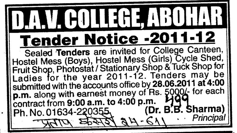 Hostel Mess Fruit Shop and Stationary Shop etc (DAV College)