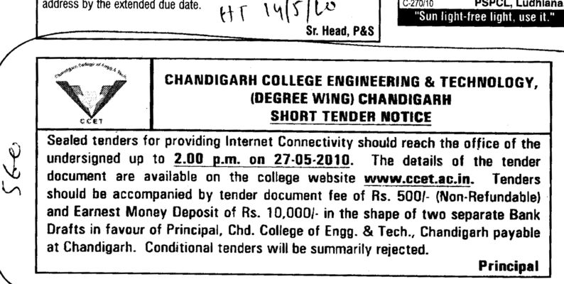 Internet Connectivity (Chandigarh College of Engineering and Technology (CCET))