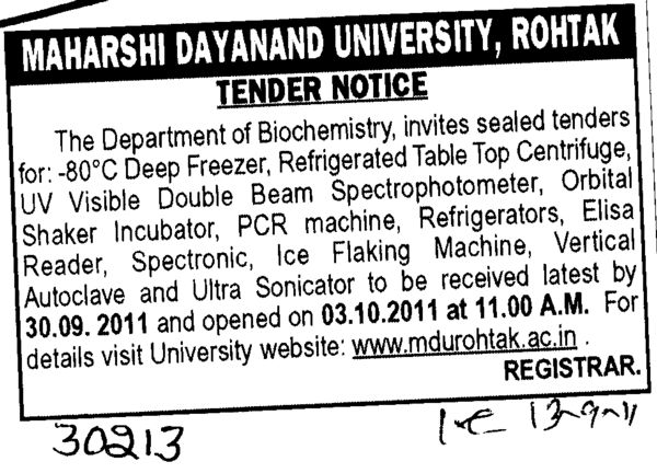 Refrigerated Table Top Centrifuge (Maharshi Dayanand University)