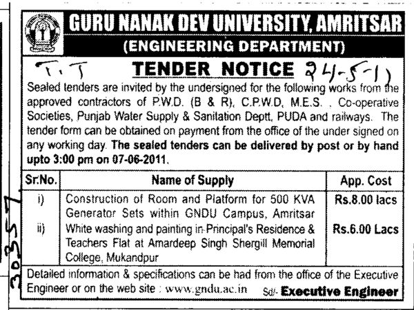 Construction of Room and Platform (Guru Nanak Dev University (GNDU))