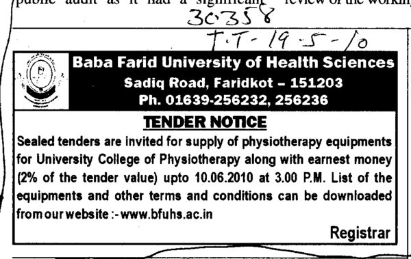 Physiotherapy Equipments (Baba Farid University of Health Sciences (BFUHS))