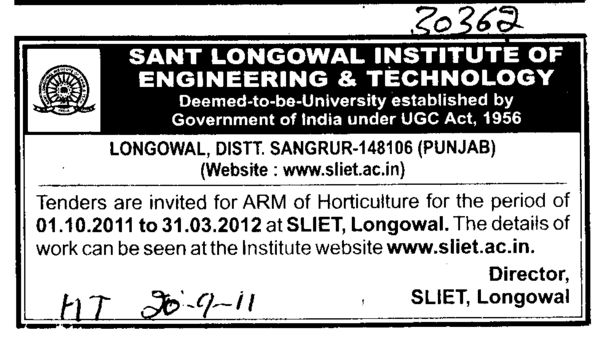 ARM of Horticulture (Sant Longowal Institute of Engineering and Technology SLIET)
