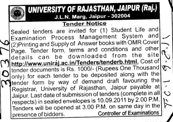 Student Life and Examination Process Management System (University of Rajasthan)