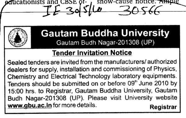 Manufactures and Authorized dealers for Supply (Gautam Buddha University (GBU))
