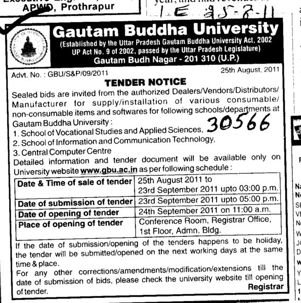 Manufacturing of Consumable and Non Consumabel items (Gautam Buddha University (GBU))