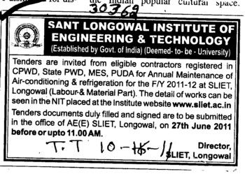 Air Conditioning and Refrigeration (Sant Longowal Institute of Engineering and Technology SLIET)
