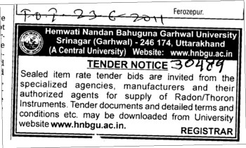 Specialized agencies manufactures and authorized agents (Hemwati Nandan Bahuguna Garhwal University)