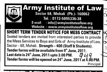 Mess Contract (Army Institute of Law)