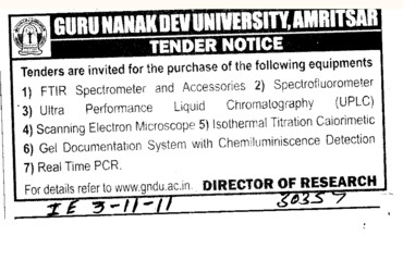 FTIR Spectroscopy and Ultra Performance Liquid Chromatography etc (Guru Nanak Dev University (GNDU))