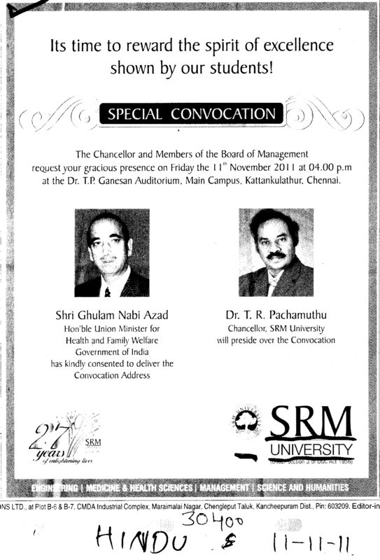 Special Convocation (SRM University)