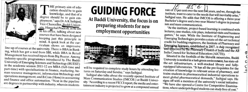 Guiding Force (Baddi University of Emerging Sciences and Technologies)