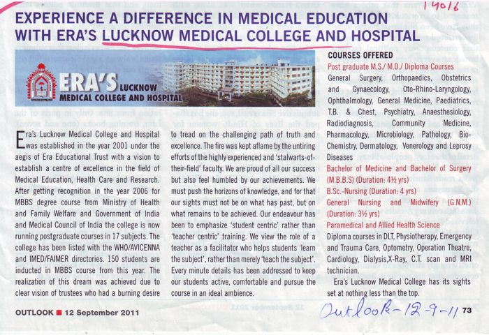 GNM MS MD and MBBS etc (Era Medical College)